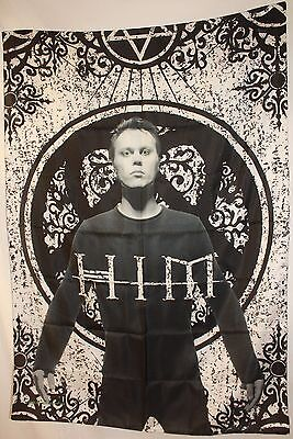 RARE HIM Ville Valo Heartagram Tombstone Cloth Fabric Poster Flag Banner-New!!!