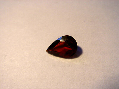 Garnet Gemstone Pear Cut 7 mm x 5 mm 0.75 carats faceted natural Gem