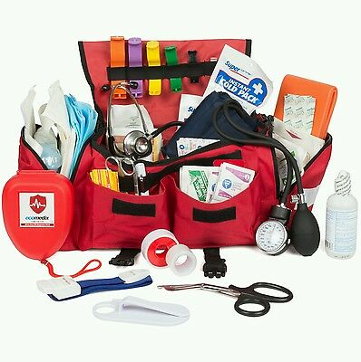 Eco Medix EMT First Responder Trauma Kit Fully Stocked with Medical Supplies