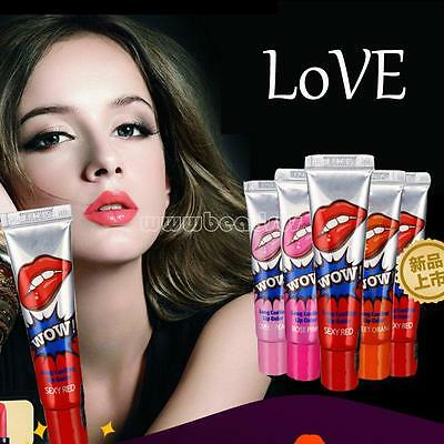 6 Colors Magic Tearing Lip Gloss Lipstick Peel Mask Tint Pack Long Lasting New