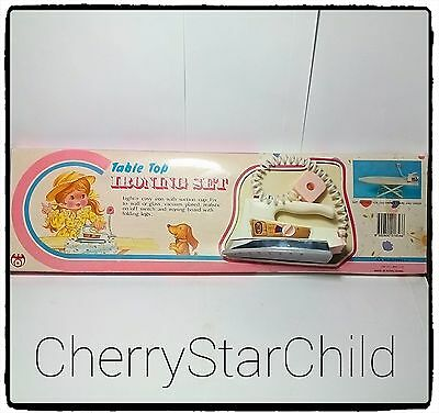 Vintage retro toy in original box Table Top Ironing Set 1973 iron & board