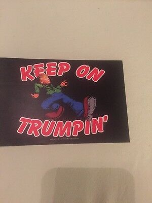 Keep On Trumpin' Donald Trump For President Bumper Sticker  2016 Decal Lot Of 3