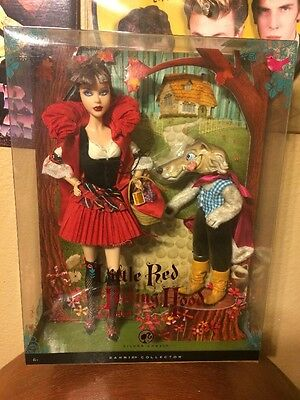 RARE 2008 Coll Edn Little Red Riding & the Wolf Barbie Giftset-NRFB Silver Label