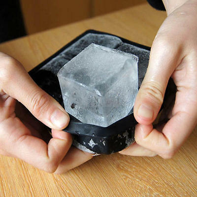 Big Chiller Combo Large Square & Round Ice Cube Mold Silicone Tray Jumbo Giant
