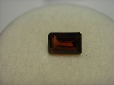 Garnet Gemstone Rectangular Cut 6mm x  4mm 0.55 carat faceted natural Gem