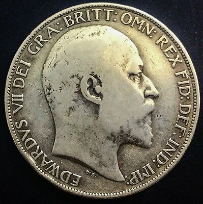 1902 Edward VII Crown Mid Grade One Year Issue