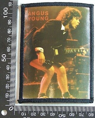 Vintage Angus Young Ac/dc Embroidered Souvenir Patch Woven Cloth Sew-On Badge