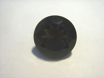 Smoky Quartz Gemstone Round cut 14mm Natural Gem 10 carats Large Stone