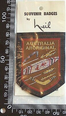 Vintage Australia Aboriginal Embroidered Souvenir Patch Woven Cloth Sew-On Badge