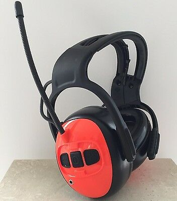 Husqvarna Ear Muffs Defenders with FM Radio & MP3 Aux Input FREE FedEx Delivery!