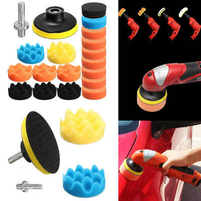"19Pc 3 ""80mm Mousse De Voiture éPonge Polir Polissage Kit Pad Set"