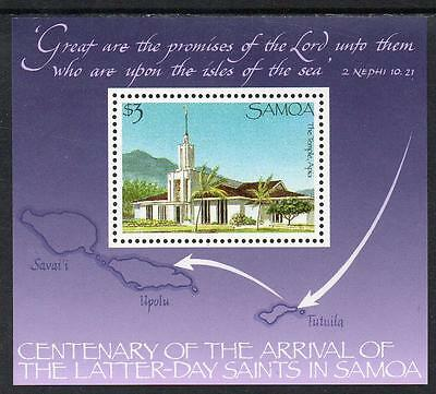 Samoa MNH 1988 The 100th Ann of Arrival of the Latter-Day Saints in Samoa M/S
