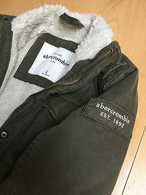 Abercrombie kids sherpa lined very warm jacket. Large: 12-13yrs