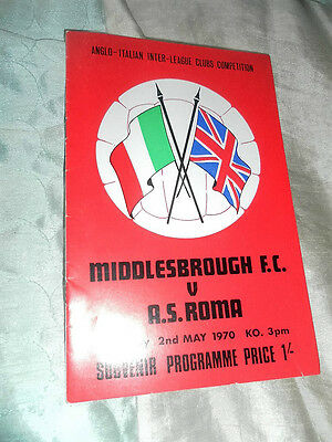 1970 Anglo Italian Middlesbrough V As Roma