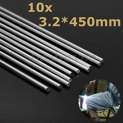 10pcs 3.2x450mm Aluminum Alloy Silver Welding Rods Tool For Cracks Polish Paint