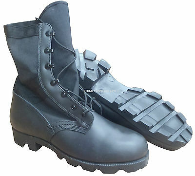 British Army - Wellco Jungle Black Boots - Size 9 Wide - Sn2546