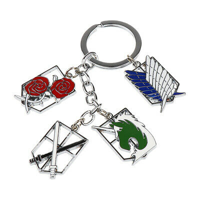 Attack On Titan Shingeki no Kyojin Scouting Legion Multi Badges Key Chain