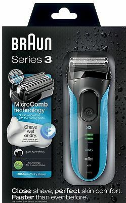 Braun Series 3 3040s Electric Shaver Wet Dry