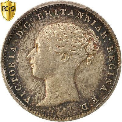 Great Britain, Victoria, 4 Pence, Groat, 1855, PCGS, MS64, MS(64), Silver