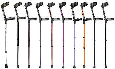 Ossenberg Single Anatomic Soft Grip Closed Cuff Forearm Crutch (Hand & Colour)