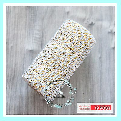 12 PLY BAKERS TWINE STRING GOLD Craft Gift Party Favour Scrapbook Wedding