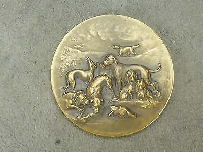 BELLE MEDAILLE ancienne: CHIENS DE CHASSE.