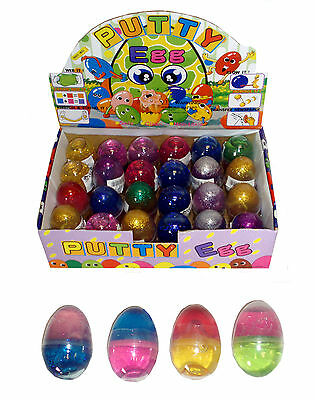 Box of 24 Glitter Putty Eggs - Brand New Pocket Money Toys