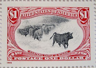 Cattle in a Storm $1.00 MNH Stamp Black Color Shift Error as Shown Scott's 3210