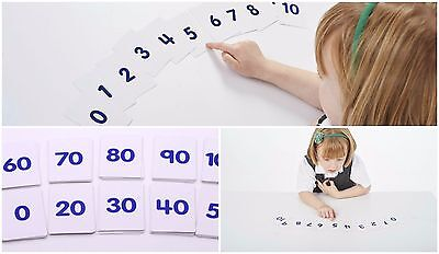 Educational number flash cards 1-10 1- 100 For school classroom or homeschool