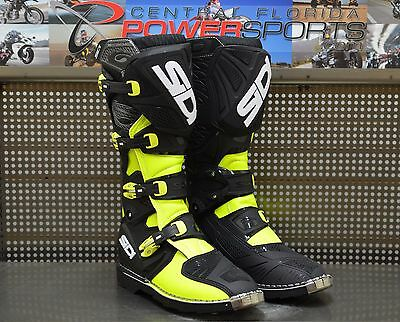 Sidi X3 TA Off Road Motorcycle Motocross Boots Black Flo Yellow US 11 / EU 45