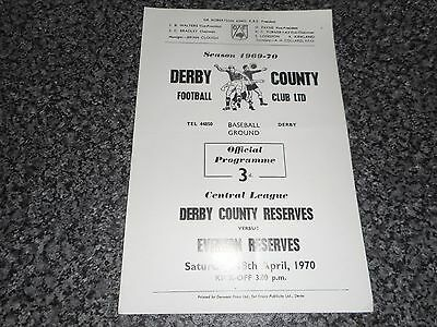 DERBY COUNTY  reserves  v  EVERTON  reserves 1969/70 ~ APRIL 18th **FREE POST**