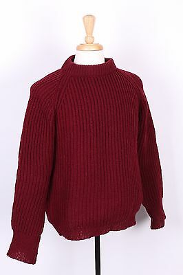 Vtg Eddie Bauer 100% Wool Fisherman Sweater England Mens Size Medium