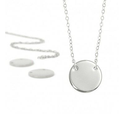 Metal Stamping Blanks Brass Silver Plated Stamping Kit Makes 5 Necklaces Circle