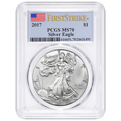 2017 $1 American Silver Eagle PCGS MS70 First Strike Label