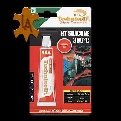 High Temperature Silicone +300°C AUDI Cars Heat Resistant Adhesive Sealant RED