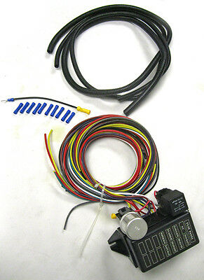 Fantastic New Universal 8 Circuit Wire Wiring Harness Street Rat Hot Rod Basic Wiring Cloud Oideiuggs Outletorg