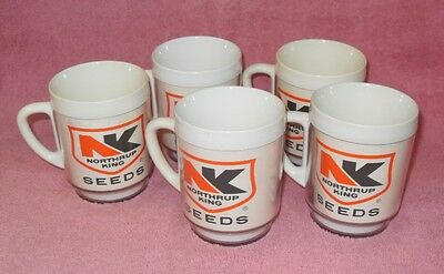 Set 5 Northrup King Seeds Insulated Coffee Cups Mugs Advertising