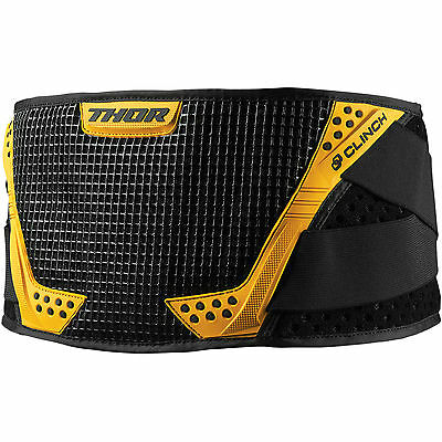 Thor Clinch Support Belt Off Road Black/Yellow Large/X-Large 2703-0132 BK/YL