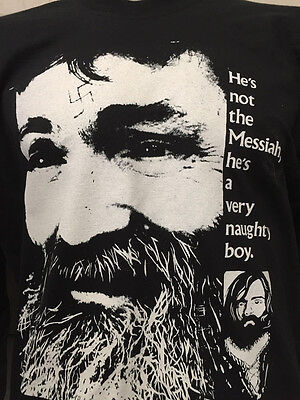 CHARLES MANSON HE'S NOT THE MESSIAH shirt monty python