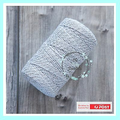 12 PLY BAKERS TWINE STRING SILVER Craft Party Gift Favour Scrapbook Wedding