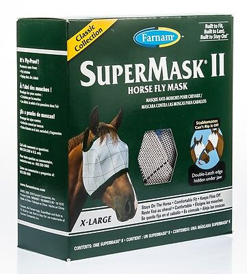 SuperMask II Horse Fly Mask, Classic Collection, X-Lrg