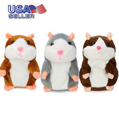 Adorable Toy Mimicry Pet Speak Talking Record Hamster Mouse Plush Kids Toys Gift