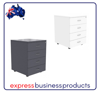 Ready 2 Go Mobile Pedestal 4 Drawer - Two Colours Available