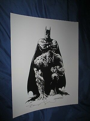 BATMAN / SWAMP THING Signed Art Print by Bernie Wrightson ~MASTER OF HORROR!!