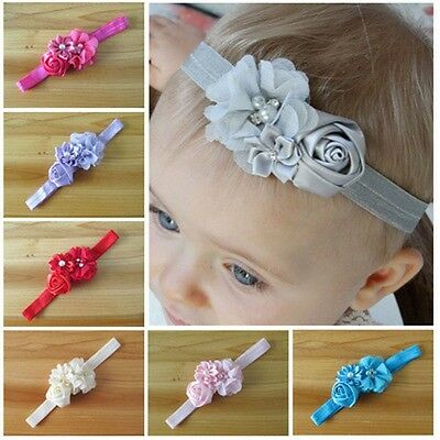 Kids Baby Girl Lace Flower Toddler Headband Hair Band Headwear Accessories