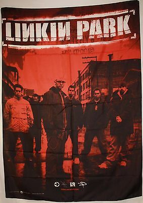 RARE Linkin Park Blood Red Group Shinoda Cloth Fabric Poster Flag Banner-New!