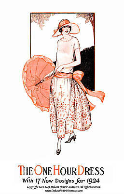 One Hour Dress (17 Sewing Patterns) 1924 -BOOK 1 Frocks