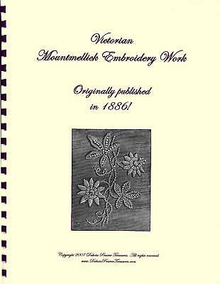 Victorian Mountmellick Embroidery Stitches Book 1886 Antique Embroidering Design