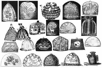 Victorian Edwardian Tea Cosy Cosies Patterns Book c1900