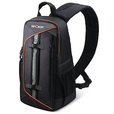 Camera Sling Bag Rucksack Backpack for DSLR SLR Back-open Design w Weather Cover